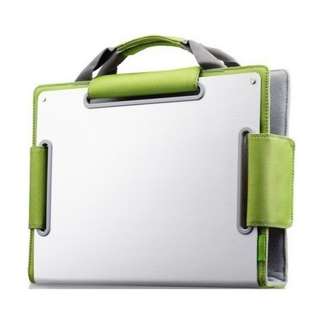 Choiix Custodie per Netbook ERGONOMIC METAL SLEEVE per 14'', Green - C-MB03-G1
