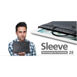 Choiix Custodia Sleeve 2E Leather x iPad e Tablet, Eco Pelle Black - C-IP0V-PL2E-KK