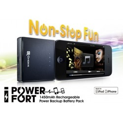 Choiix Caricabatteria iPower Fort da 1450 mAh per iPhone, Black, C-A006-K1