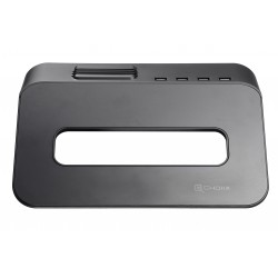 Choiix Mini Air Through supporto Notebook 15'', Hub USB 2.0, Black, C-HL02-KP