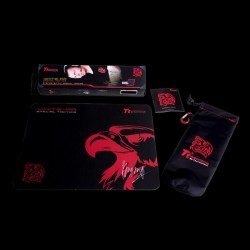 TteSPORTS Mouse Pad WHITE-RA BLACK EDITION, Misure 360x300 mm, Colore Black