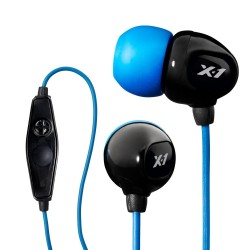 X-1 Cuffie Subacquee Surge Contact BLACK/BLUE, resistente fino a 3.6 Mt IE2-MBK-X