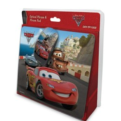 Cirkuit Planet DISNEY KIT Mouse Ottico USB Con Mouse Pad Cars - DSY-TP1002
